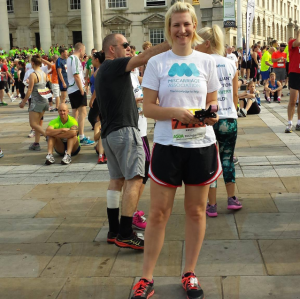 Kirsty before the Leeds 10k