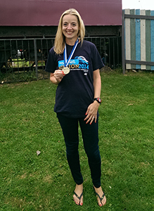 Mary after the 2014 Great North Run