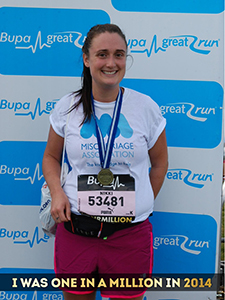 Nikki after the Great North Run