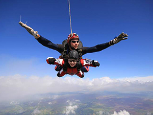 Rachael jumps from a plane to raise funds for the M.A.