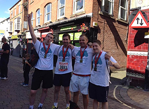Phil and his fellow runners after the Wigan 10k