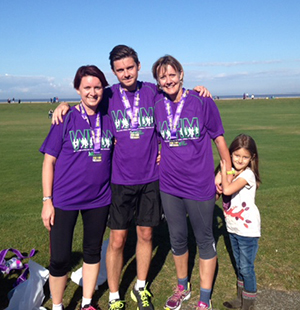 Nikki after the Wirral Half Marathon