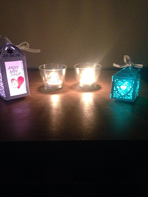 Stacey's memorial candles