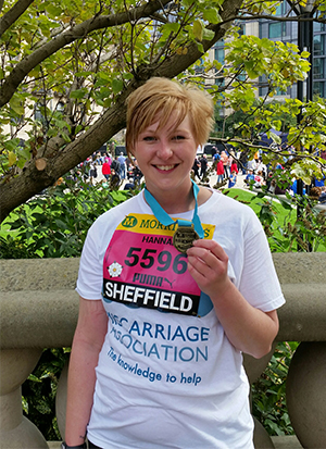 Hannah fundraising for the M.A. in the Great Yorkshire Run